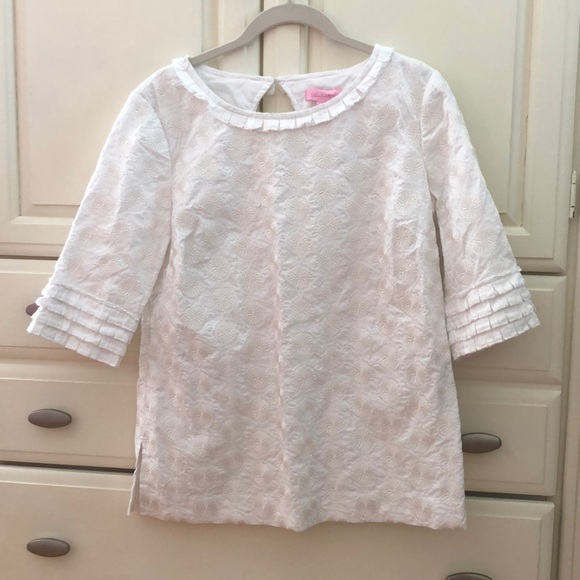 Lilly Pulitzer Tops - Lilly Pulitzer White Blouse